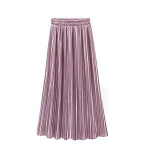 Dresses & Skirts - ✨NWT✨Rose Metallic Satin Pleated Maxi Skirt